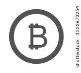 bitcoin glyph icon | Shutterstock .eps vector #1222673254