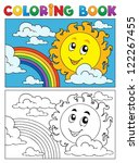 coloring book summer image 1  ... | Shutterstock .eps vector #122267455