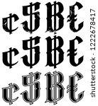 graphic black grunge vintage... | Shutterstock .eps vector #1222678417