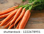 A Lot Of Fresh Carrots With...