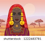 animation portrait of the... | Shutterstock .eps vector #1222683781