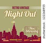 city nightlife   vintage retro... | Shutterstock .eps vector #122268955