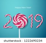 2019 happy new year background... | Shutterstock .eps vector #1222690234