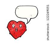 cartoon crying love heart | Shutterstock .eps vector #122269051