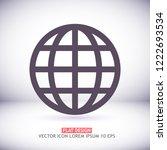 planet vector icon | Shutterstock .eps vector #1222693534