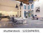 modern loft area office... | Shutterstock . vector #1222696501