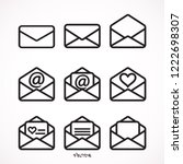 outline email icon isolated...