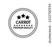 carrot premium quality emblem ...   Shutterstock .eps vector #1222700554