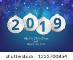 merry christmas and happy new... | Shutterstock .eps vector #1222700854