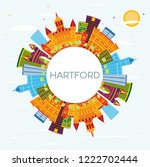 hartford connecticut usa... | Shutterstock .eps vector #1222702444