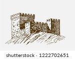 graphical vintage sketch of... | Shutterstock .eps vector #1222702651