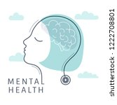 mental health for women vector | Shutterstock .eps vector #1222708801