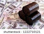 barrels of oil  bills of... | Shutterstock . vector #1222710121