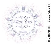 floral vector round card with... | Shutterstock .eps vector #1222723864
