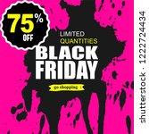 black friday sale template... | Shutterstock .eps vector #1222724434