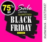 black friday sale template... | Shutterstock .eps vector #1222724437