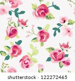 seamless tiny rose pattern... | Shutterstock .eps vector #122272465