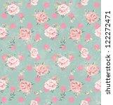 seamless vintage flower pattern ... | Shutterstock . vector #122272471