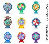 gambling roulette or set of... | Shutterstock .eps vector #1222726927