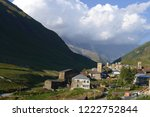 old villages on a background of ... | Shutterstock . vector #1222752844