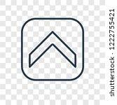 up arrow concept vector linear...