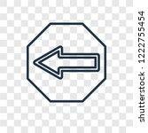 left arrow concept vector... | Shutterstock .eps vector #1222755454