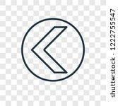 left arrow concept vector... | Shutterstock .eps vector #1222755547