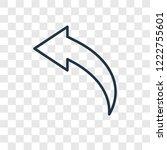 back concept vector linear icon ...