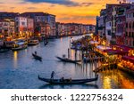 grand canal with gondolas in... | Shutterstock . vector #1222756324