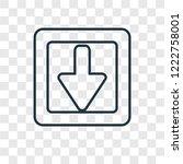 down arrow concept vector...