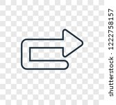 u turn arrow concept vector... | Shutterstock .eps vector #1222758157