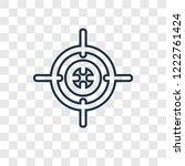 aim concept vector linear icon... | Shutterstock .eps vector #1222761424