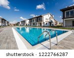 communal swimming pool for... | Shutterstock . vector #1222766287