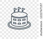 stadium cylinder concept vector ... | Shutterstock .eps vector #1222767157