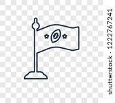 flag concept vector linear icon ...