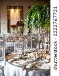 wedding decoration saloon | Shutterstock . vector #1222767721