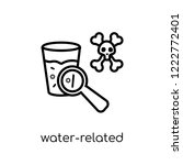 water related diseases icon.... | Shutterstock .eps vector #1222772401