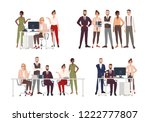 collection of scenes with group ... | Shutterstock .eps vector #1222777807