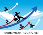 businessman stepping up to the ... | Shutterstock .eps vector #122277787