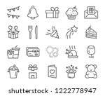 set of celebration icons  such... | Shutterstock .eps vector #1222778947