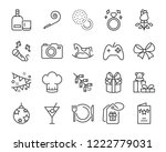 set of celebration icons  such... | Shutterstock .eps vector #1222779031