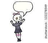 cartoon skull head girl | Shutterstock .eps vector #122278549