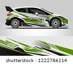 rally car wrap design. graphic... | Shutterstock .eps vector #1222786114
