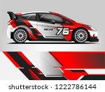 rally car wrap design. graphic... | Shutterstock .eps vector #1222786144