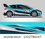 rally car wrap design. graphic... | Shutterstock .eps vector #1222786147