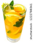 orange cocktail decorated with... | Shutterstock . vector #1222788361