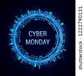 cyber monday sale vector banner ...   Shutterstock .eps vector #1222790131