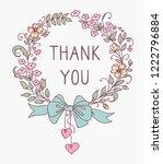 floral frame. graphic outline... | Shutterstock . vector #1222796884
