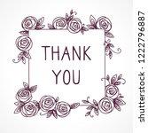 vintage cute floral frame.... | Shutterstock . vector #1222796887