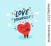 love yourself funny concept.... | Shutterstock .eps vector #1222796944